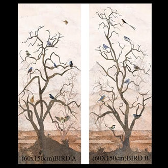 Decorative Wall Tile Set (60X150) BIRD AB