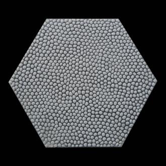 Gạch Sỏi, Terrazzo Hạt trắng 10mm lục giác 400x400